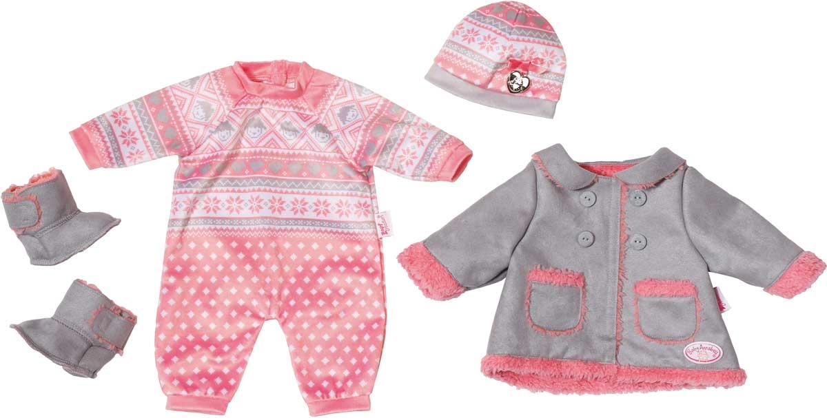 Baby Annabell Одежда для кукол Для прохладной погоды 700-099 аксессуары для кукол zapf игрушка baby annabell памперсы
