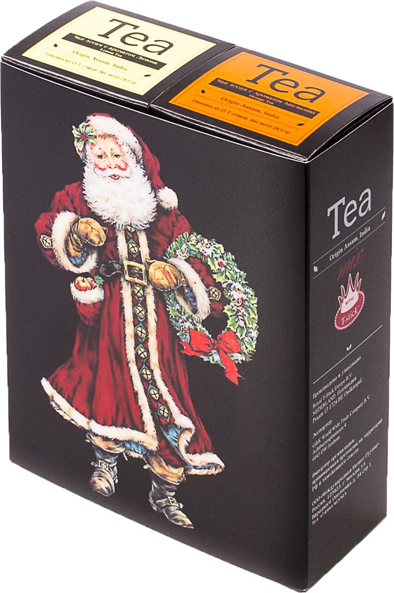 Подарочный набор Royal T-Stick: Orange Tea черный чай и Lemon Tea черный чай, в стиках, 30 шт. 2018129 2005 чай ассам хармутти оптом