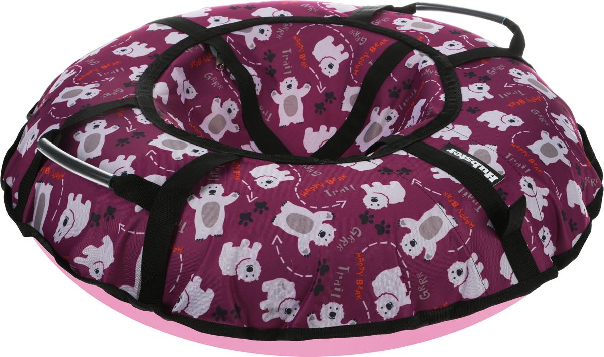Тюбинг Hubster Люкс Pro. Мишки, цвет: фиолетовый, диаметр 90 смво4340-1