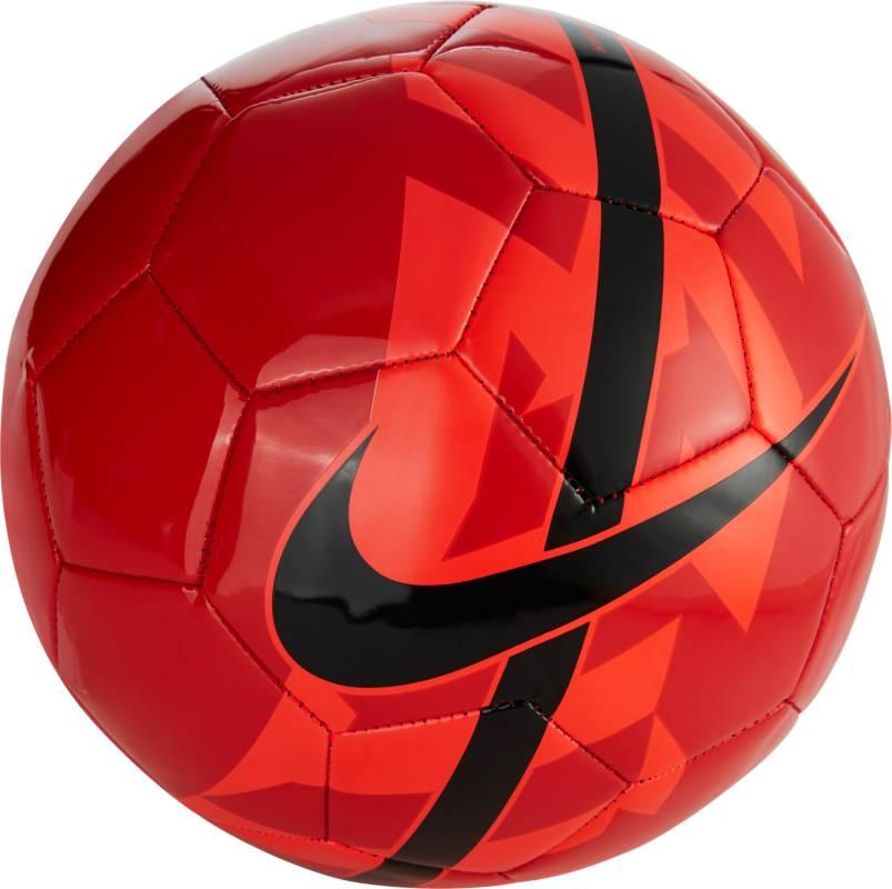 Мяч футбольный, Nike React Football, цвет: красный. Размер 4SC2736-657Nike React Football К ИГРЕ ГОТОВ. Яркая графика делает футбольный мяч Nike React хорошо заметным на поле, а конструкция, которая хорошо держит форму, обеспечивает превосходное касание. Конструкция из 26 панелей гарантирует точность траектории полета мяча. Бутиловая камера обеспечивает отличную амортизацию и превосходно удерживает воздух. Высококонтрастная графика упрощает слежение за траекторией и вращением.