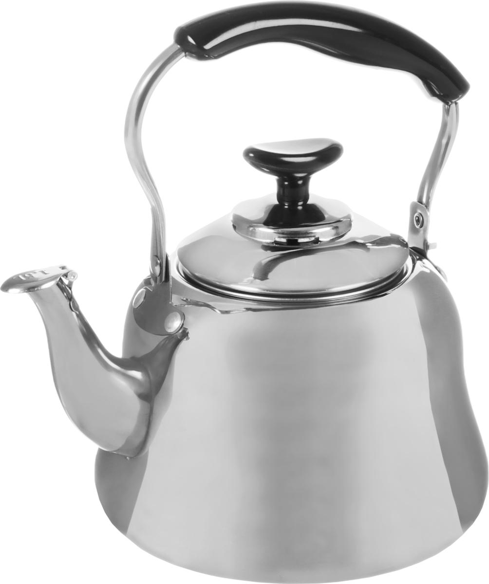 Чайник Mayer & Boch, со свистком и фильтром, 1,5 л. 2351223512Чайник Mayer & Boch изготовлен из высококачественной нержавеющей стали. Он оснащен подвижной ручкой из стали с бакелитовой накладкой, что делает использование чайника очень удобным и безопасным. Крышка снабжена свистком, позволяя контролировать процесс подогрева или кипячения воды. Также имеется фильтр из нержавеющей стали.Эстетичный и функциональный чайник будет оригинально смотреться в любом интерьере.Подходит для электрических, газовых и стеклокерамических плит. Можно мыть в посудомоечной машине. Высота чайника (без учета ручки и крышки): 11 см. Высота чайника (с учетом ручки и крышки): 21 см. Диаметр чайника (по верхнему краю): 9 см.