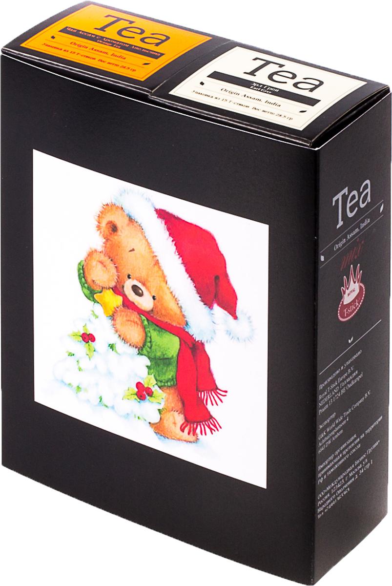 Подарочный набор Royal T-Stick: Earl Grey черный чай и Orange Tea черный чай, в стиках, 30 шт. 20181177 greenfield royal earl grey черный листовой чай 250 г