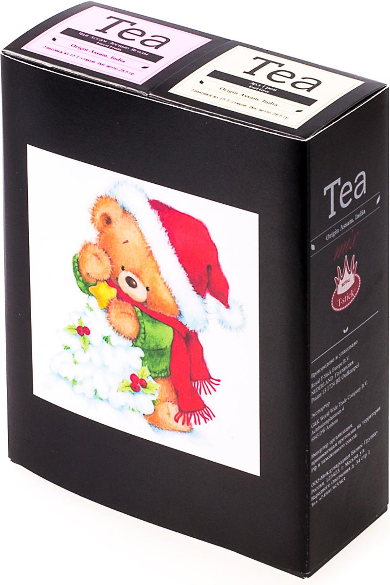 Подарочный набор Royal T-Stick: Earl Grey черный чай и Forest Fruits Tea черный чай, в стиках, 30 шт. 20181176 greenfield royal earl grey черный листовой чай 250 г