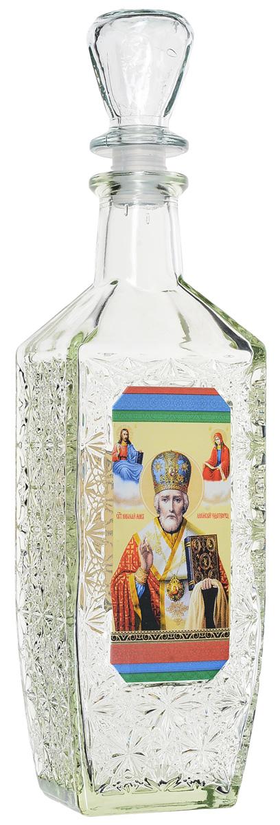 Сосуд для святой воды Kwestor Николай Чудотворец, 500 мл544-1535Сосуд для святой воды Kwestor Николай Чудотворец изготовлен из стекла. На передней стенки сосуда изображен Николай Чудотворец, на задней - молитва на принятие святой воды. Стенки сосуда имеют рельефную поверхность в цветочек. Графин закрывается стеклянной пробкой.Сосуд не только послужит для хранения воды, но и украсит интерьер вашего дома.Размер графина: 9 х 7 х 29 см.