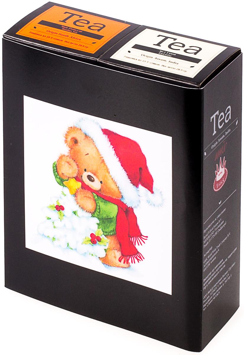 Подарочный набор Royal T-Stick: Earl Grey черный чай и Rooibos Tea красный чай, в стиках, 30 шт. 20181175 greenfield royal earl grey черный листовой чай 250 г