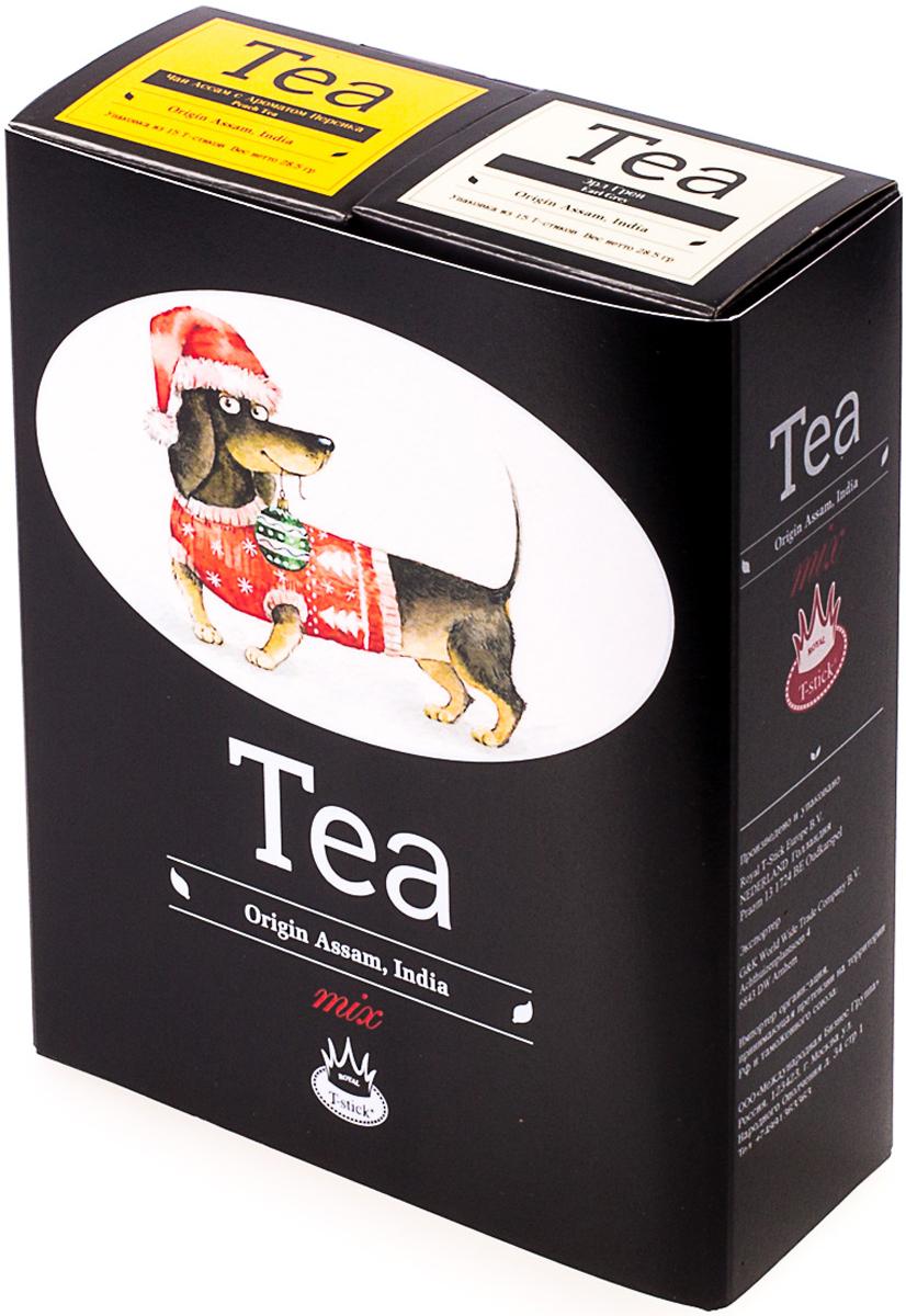 Подарочный набор Royal T-Stick: Earl Grey черный чай и Peach Tea черный чай, в стиках, 30 шт. 20181174 2005 чай ассам хармутти оптом