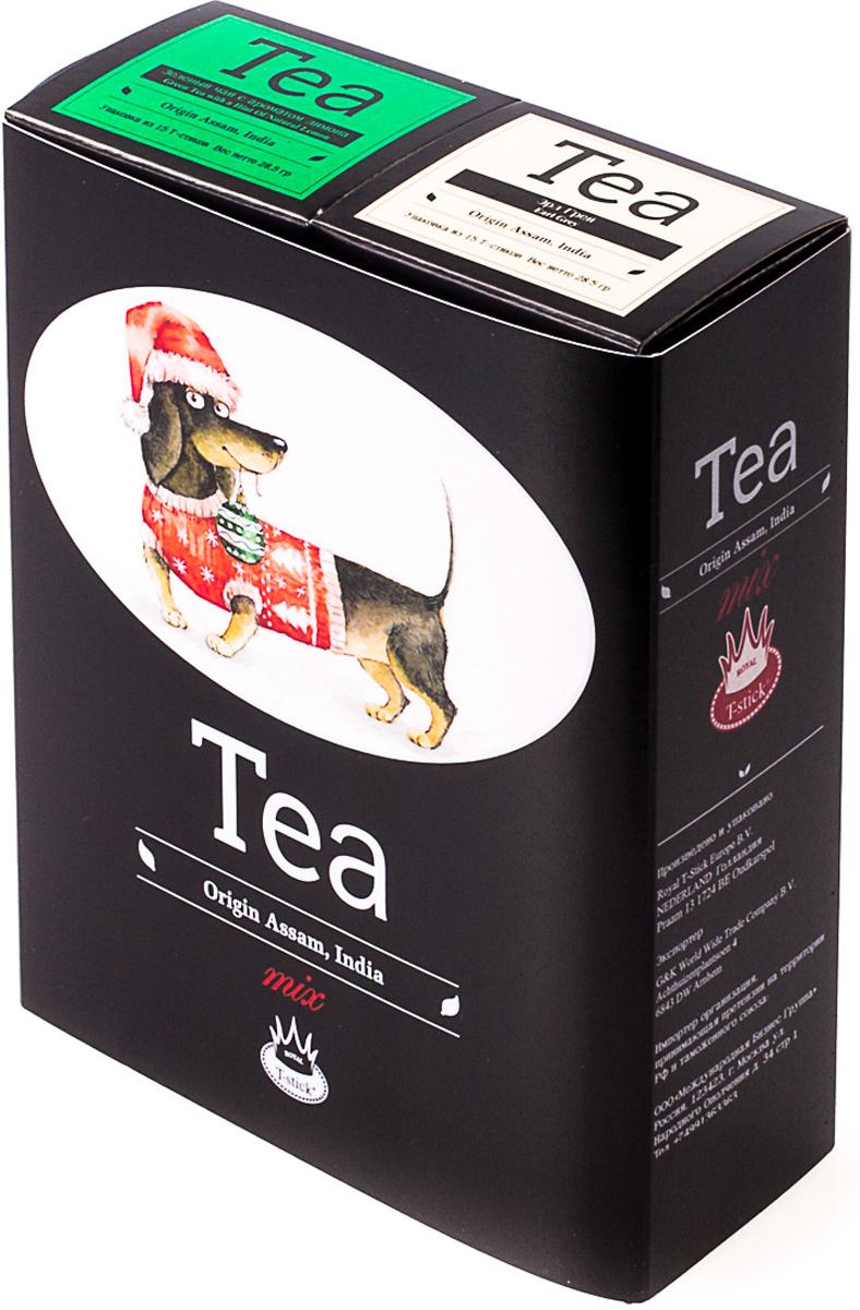 Подарочный набор Royal T-Stick: Earl Grey черный чай и Green Tea зеленый чай, в стиках, 30 шт. 20181173 greenfield royal earl grey черный листовой чай 250 г