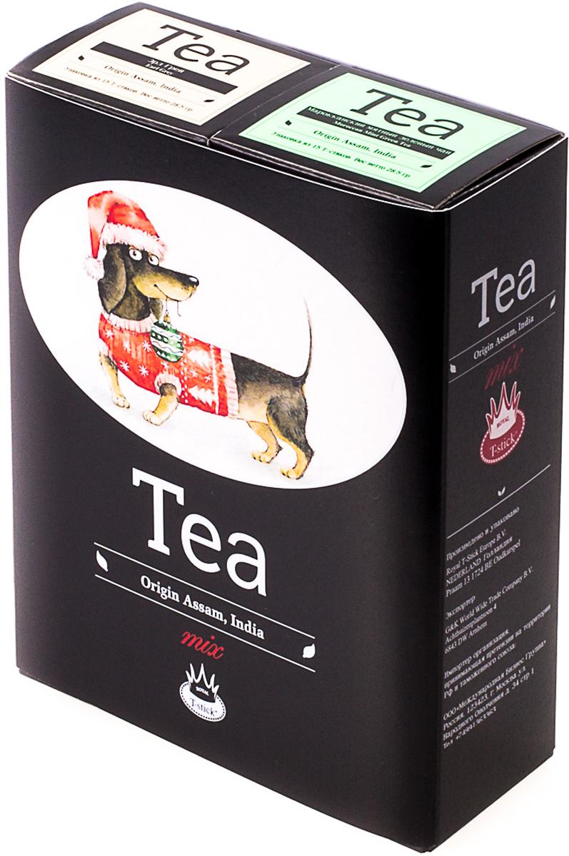 Подарочный набор Royal T-Stick: Earl Grey черный чай и Mint Green Tea зеленый чай, в стиках, 30 шт. 20181172 greenfield royal earl grey черный листовой чай 250 г