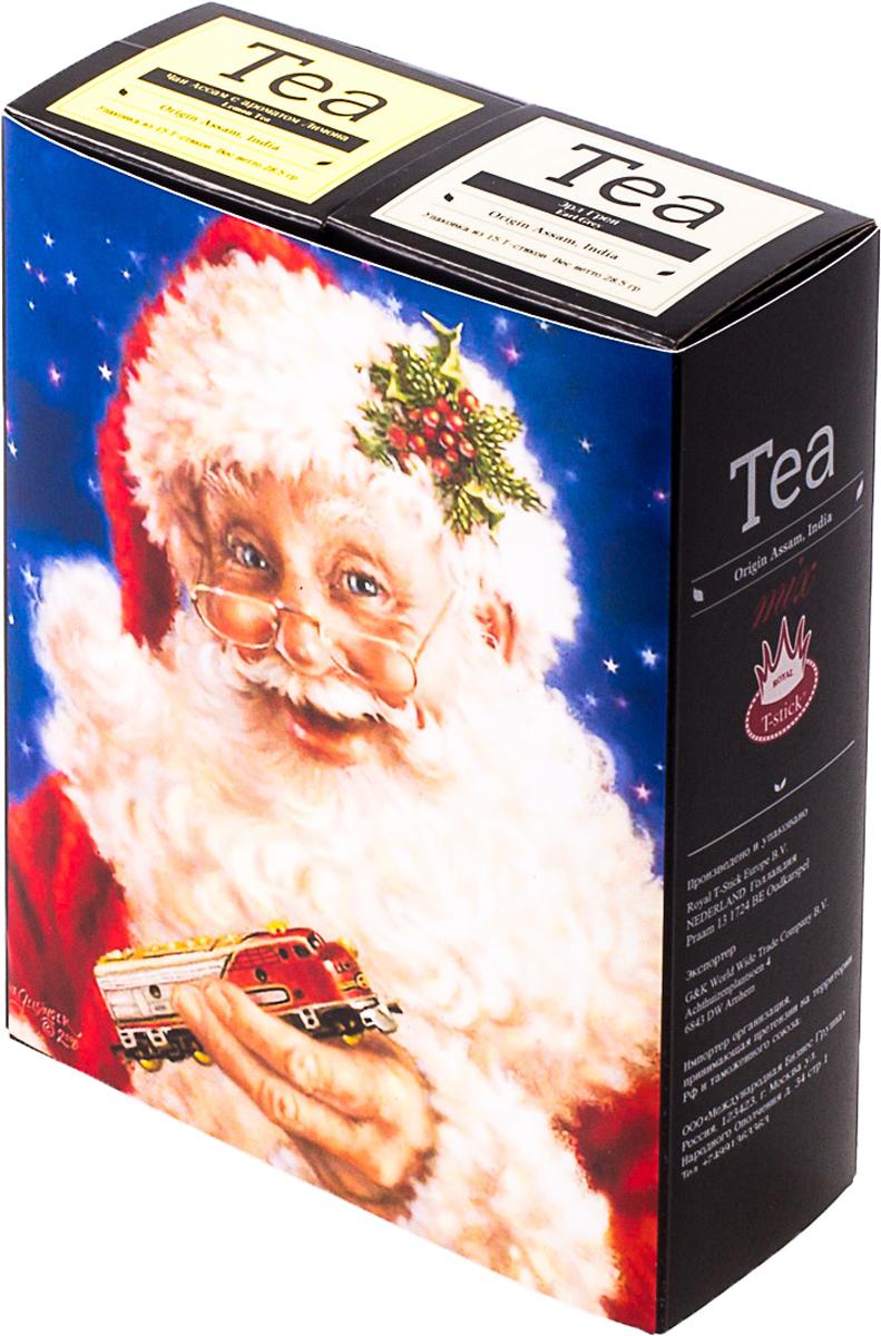 Подарочный набор Royal T-Stick: Earl Grey черный чай и Lemon Tea черный чай, в стиках, 30 шт. 20181167 greenfield royal earl grey черный листовой чай 250 г