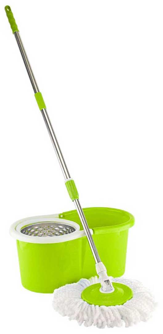 Набор для уборки Ruges Верта, цвет: салатовый, 7 предметовD-30Набор для уборки Ruges Верта со шваброй-вертушкой - это комплект для комфортного мытья горизонтальных и вертикальных поверхностей с дополнительной возможностью полоскания и выжимания по принципу центрифуги, сохраняя ваши руки сухими и чистыми. Ручка швабры телескопическая и соединяется с насадкой подвижными шарнирами. Это позволяет мыть вертикальные поверхности и удалять грязь под мебелью.Размер ведра: 45 х 26 х 20 см. Объем: 16 л. Корзина: диаметр 19 см.Платформа: диаметр 17 см. Длина ручки: до 130 см. Комплектация: ведро, ручка, платформа, 4 насадки. Инструкция на русском языке.