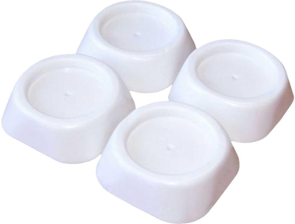 Подставки антивибрационные Ruges «Фикспро», для стиральной машины, цвет: белый, 4 шт антивибрационные подставки для стиральной машины