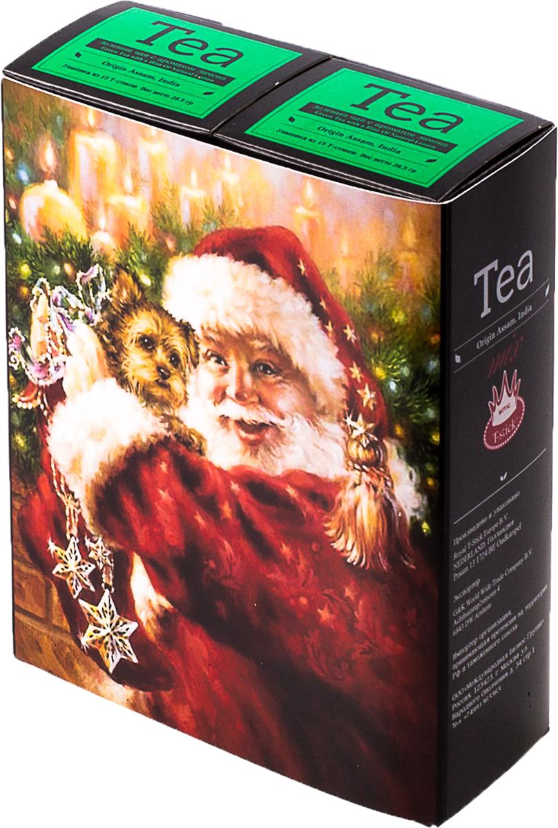 Подарочный набор Royal T-Stick: Green Tea with a Hint of Natural Lemon зеленый чай и Green Tea with a Hint of Natural Lemon зеленый чай, в стиках, 30 шт. 20181164 mama lemon green tea 600