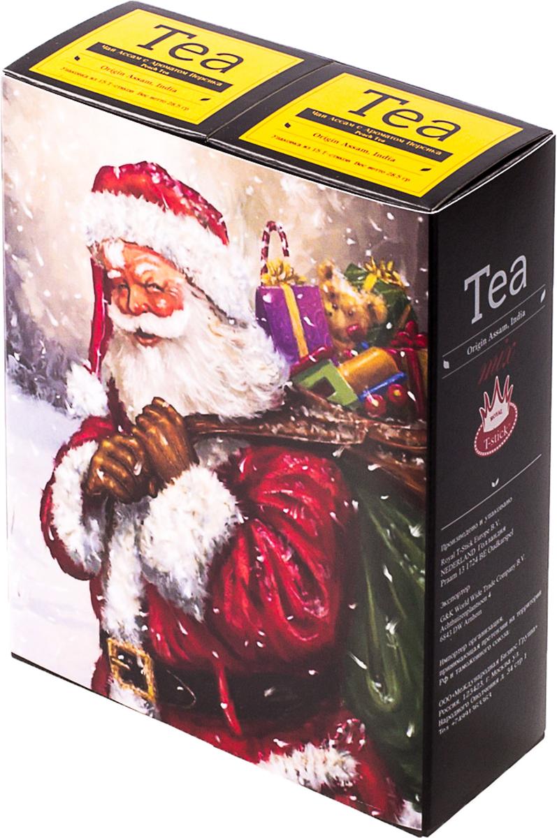 Подарочный набор Royal T-Stick: Peach Tea черный чай и Peach Tea черный чай, в стиках, 30 шт. 2018116020181160Подарочный набор из двух пачек чая премиум класса,упакован в коробку для транспортировки. Натуральный черный чай с ароматом персика порадует вас золотисто-медовым цветом, тонким ароматом персика и изысканным вкусом , который создается путем смешивания реальных кусочков персика и индийского чая из штата Ассам. Чай упакован в пищевую фольгу, которую можно использовать вместо ложечки для размешивания сахара. Опустите стик в кипяток, оставьте на 3 минуты, размешайте кусочек сахара. Достаньте стик из стакана, потрясите им о край стакана, так, чтобы стекли последние капли, и положите рядом. Вся влага останется внутри стика. Прекрасный подарок родным и близким,и отличный повод удивить коллег по работе и друзей, внедряя новую, элегантную культуру чаепития!