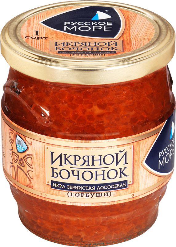 Русское Море Икра зернистая лососевая, 430 г икра сига купить в москве