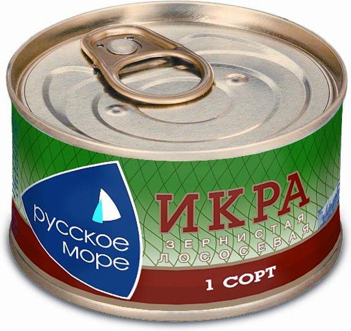 Русское Море Икра зернистая лососевая, 140 г икра сига купить в москве