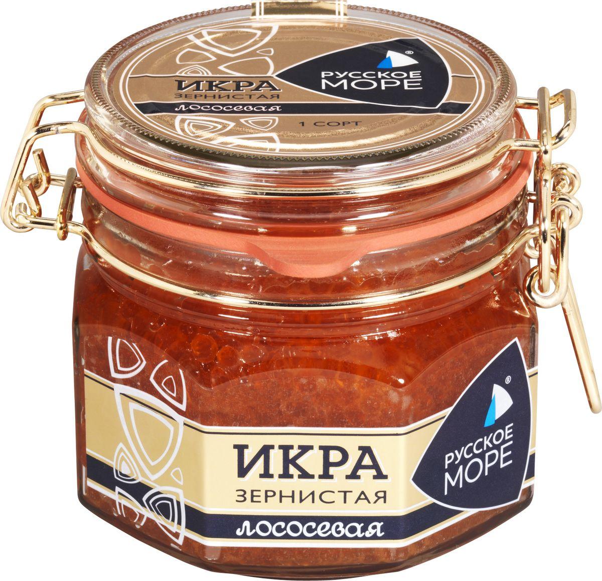 Русское Море Икра зернистая лососевая, 500 г икра сига купить в москве