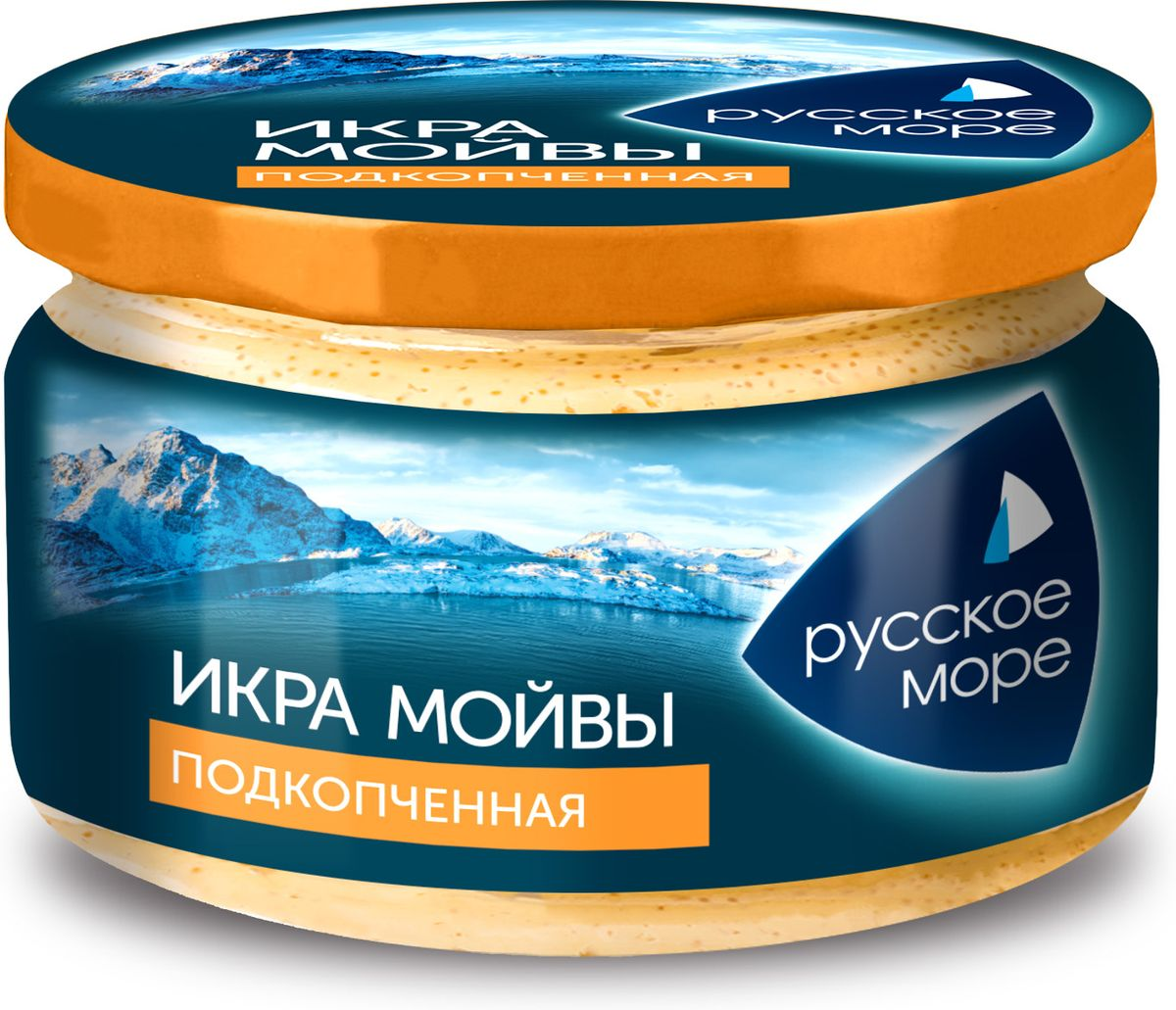 Русское Море Икра Мойвы в майонезном соусе, подкопченная, 165 г