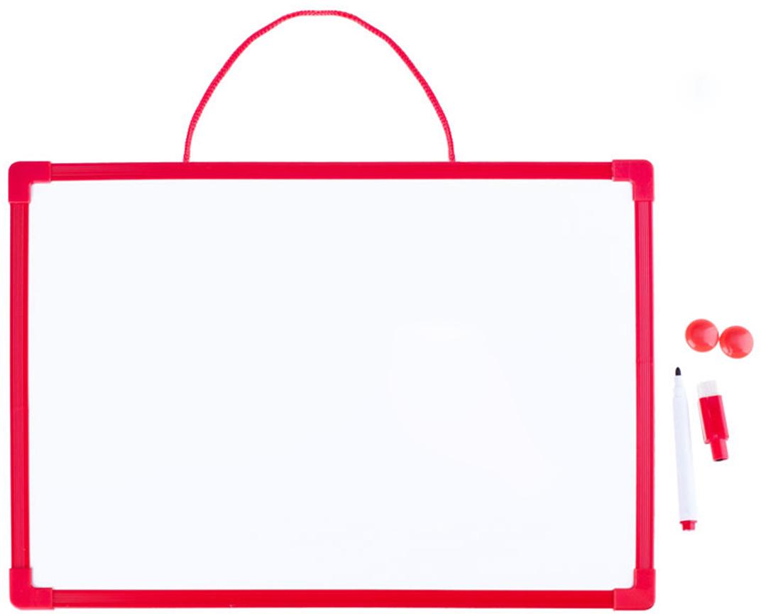 Mazari Доска магнитно-маркерная 25 x 35 смМ-6352Двусторонняя магнитно-маркерная доска имеет пластиковую цветную раму и может располагаться в горизонтальной ориентации. Легкий вес конструкции обеспечивает безопасную для ребенка эксплуатацию изделия. Детская доска предназначена для детей дошкольного и младшего школьного возраста. Она служит не только развлекательным целями, но образовательным.В комплект с доской входят маркер на магните с ластиком и 2 магнита.