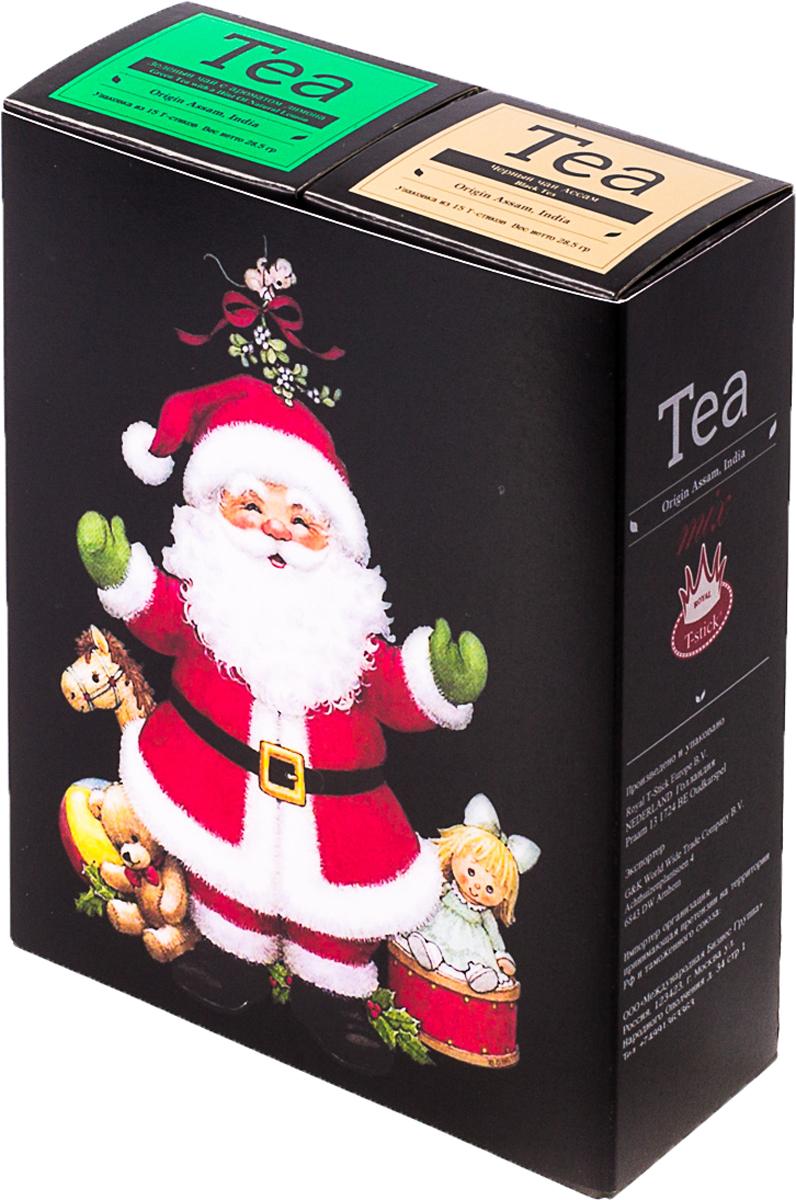 Подарочный набор Royal T-Stick: Green Tea зеленый чай и High Tea черный чай, в стиках, 30 шт. 20181142