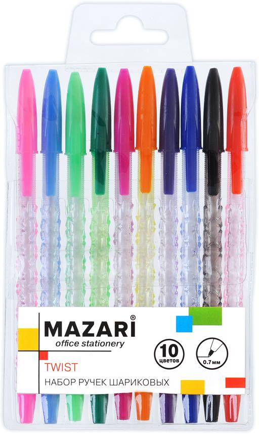 Mazari набор шариковых ручек Twist 10 цветов