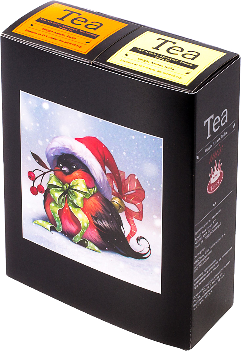 Подарочный набор Royal T-Stick: Orange Tea черный чай и Lemon Tea черный чай, в стиках, 30 шт. 2018113920181139Подарочный набор из двух пачек чая премиум класса,упакован в коробку для транспортировки. Натуральный черный чай с ароматом апельсина порадует вас золотисто-медовым цветом, тонким ароматом персика и изысканным пряным вкусом , который создается путем смешивания реальных кусочков апельсина и индийского чая из штата Ассам. Натуральный черный чай с ароматом лимона порадует вас золотисто-медовым цветом, тонким ароматом лимона, который создается путем смешивания реального лимона и индийского чая из штата Ассам. Чай упакован в пищевую фольгу, которую можно использовать вместо ложечки для размешивания сахара. Опустите стик в кипяток, оставьте на 3 минуты, размешайте кусочек сахара. Достаньте стик из стакана, потрясите им о край стакана, так, чтобы стекли последние капли, и положите рядом. Вся влага останется внутри стика. Прекрасный подарок родным и близким,и отличный повод удивить коллег по работе и друзей, внедряя новую, элегантную культуру чаепития!