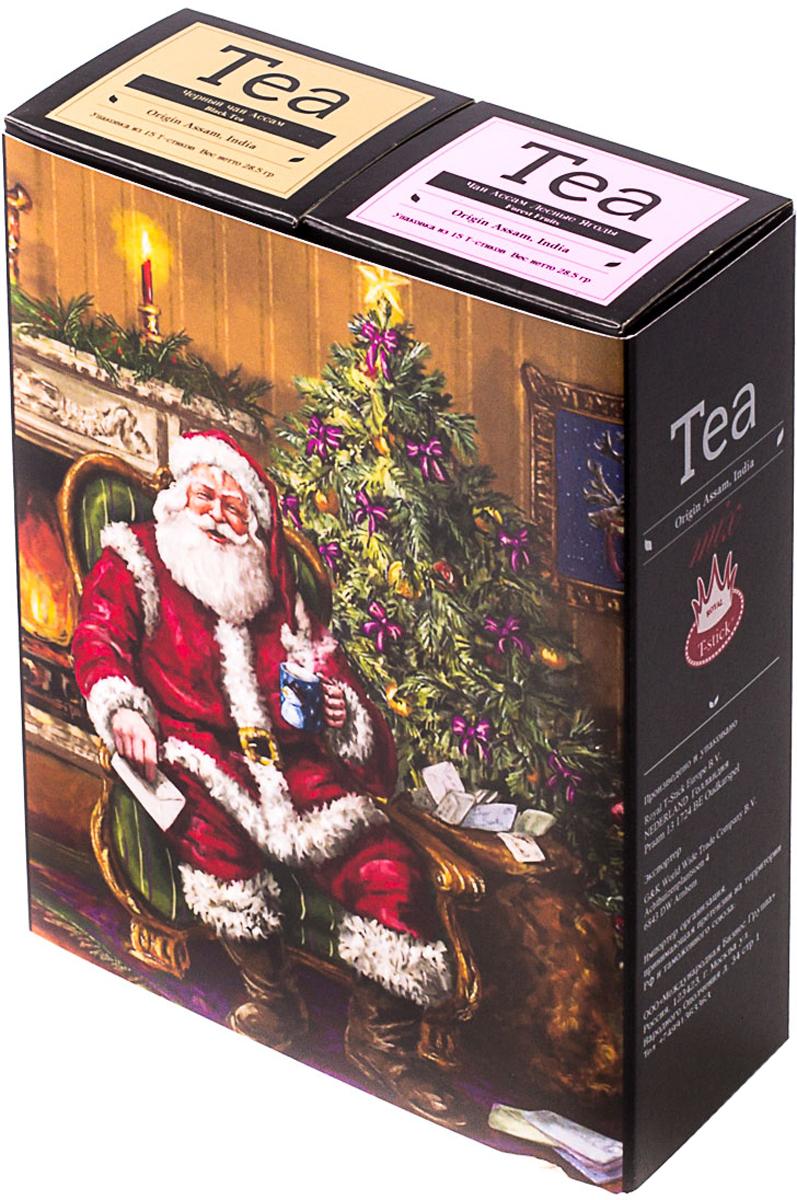 Подарочный набор Royal T-Stick: Forest Fruits Tea черный чай и High Tea черный чай, в стиках, 30 шт. 2018113620181136Подарочный набор из двух пачек чая премиум класса,упакован в коробку для транспортировки. Чай Асам с ароматом лесных ягод порадует Вас своим сладким фруктовым вкусом и ароматом лесных ягод и фруктов. Богат антиоксидантами, способствующих нейтрализации токсинов в нашем организме. Чай Ассам порадует вас насыщенным ,янтарно -красным цветом, терпким ароматом и пряным, солодово-медовым вкусом . Чай упакован в пищевую фольгу, которую можно использовать вместо ложечки для размешивания сахара. Опустите стик в кипяток, оставьте на 3 минуты, размешайте кусочек сахара. Достаньте стик из стакана, потрясите им о край стакана, так, чтобы стекли последние капли, и положите рядом. Вся влага останется внутри стика. Прекрасный подарок родным и близким,и отличный повод удивить коллег по работе и друзей, внедряя новую, элегантную культуру чаепития!