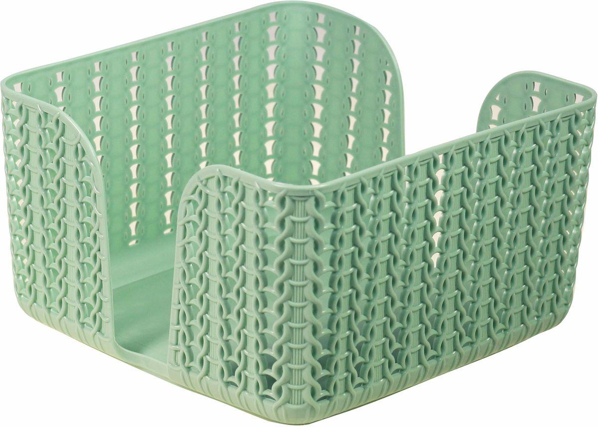 Салфетница Idea Вязание, цвет: фисташковый, 14 х 14 х 8,5 смМ 1193_фисташковыйСалфетница - это обязательный атрибут сервировки стола, а салфетница, подобранная со вкусом, - еще и украшение, и эстетическое удовольствие.Изделие подходит по размеру для стандартной пачки салфеток. Благодаря выемке, салфетки удобно доставать из пачки по одной.Дополняет серию Вязание от IDEA: корзинки и коробки для хранения, кашпо.