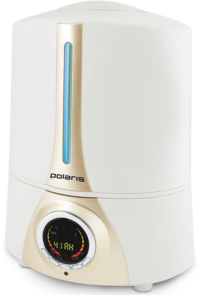 Polaris PUH 0518i увлажнитель воздуха8261Простая и удобная эксплуатацияПредставленная модель увлажнителя в автоматическом режиме поддерживает выбранный уровень влажности в помещении. Бак устройства рассчитан на 5 литров воды, что является залогом длительной работы увлажнителя без дозаправки – до 18 часов беспрерывного функционирования.3 режима увлажненияУвлажнитель воздуха PUH 0518i от компании POLARIS имеет три режима подачи пара, каждому из которых соответствует та или иная интенсивность испарения воды. Вся актуальная информация о работе прибора отображается на многофункциональном дисплее, а управление устройством осуществляется посредством сенсорной панели или пульта дистанционного управления.Керамический фильтрУвлажнитель POLARIS PUH 0518i оборудован заменяемым керамическим фильтром для очистки воды, для которого характерна высокая эффективность. Благодаря этому элементу, который дезинфицирует и смягчает воду, а также удаляет из нее разные примеси, прибор прослужит гораздо дольше. Сам фильтр характеризуется не только эффективным очищением воды, но и долговечностью: простая промывка фильтра способна возобновить все его первоначальные характеристики.Ионизатор встроенного типаНаличие ионизатора позволяет увлажнителю насыщать воздух отрицательно заряженными частицами, устраняя неприятные запахи, снимая статический заряд с разных поверхностей, удаляя из воздуха пылевые примеси и уничтожая болезнетворные микроорганизмы.Таймер и автоматическое отключениеДанная модель оснащена системой автоматического отключения в случае отсутствия в резервуаре воды. О том, что в баке, оборудованном внутренней подсветкой, недостаточно воды информирует специальный индикатор. Кроме того, пользователь может запрограммировать увлажнитель на самостоятельное отключение благодаря таймеру.Электронный гигрометрЦифровой датчик влажности, которым оснащена представленная модель увлажнителя, обеспечивает высокую точность измерений.Прорезиненный корпусМодель увлажнителя PUH 0518i имеет прорезиненный 