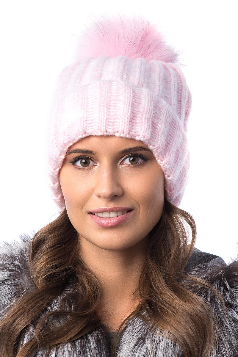 Шапка женская Stilla, цвет: розовый. SH-1720/780. Размер 52/56SH-1720/780Женская шапка от Stilla с отворотом выполнена из акрилово-шерстяной пряжи. Крупная вязка.На флисовой подкладке. Модная многоцветная пряжа. Помпон из искусственного меха.