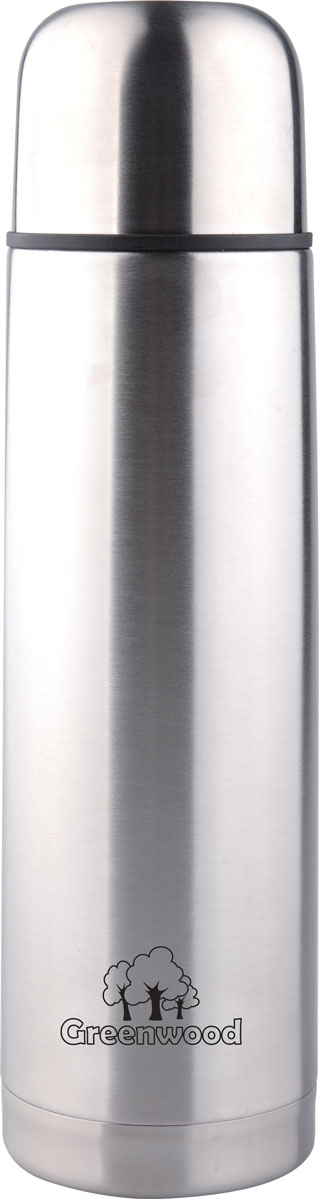 Термос Greenwood HB-1000, цвет: серебристый, 1 л348715Термос Greenwood HB-1000 1L (крышка с кнопкой). Термос удобен в использовании дома, на даче, в турпоходе и на рыбалке. Пригодится на работе, в офисе и командировке, экономит электроэнергию и время. В комплекте: завинчивающаяся крышка-чашка; пробка с кнопкой.