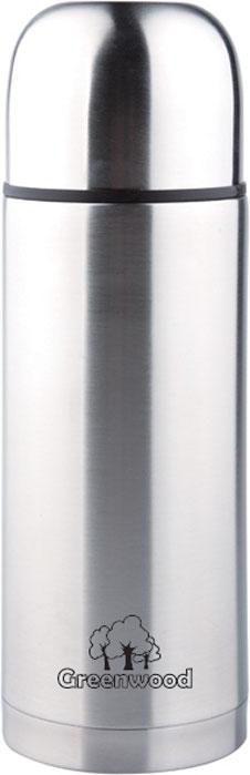 Термос Greenwood HB-750-5, цвет: серебристый, 0,75 л348716Термос Greenwood HB-750-5 0,75L (крышка с кнопкой). Термос удобен в использовании дома, на даче, в турпоходе и на рыбалке. Пригодится на работе, в офисе и командировке, экономит электроэнергию и время. В комплекте: завинчивающаяся крышка-чашка.