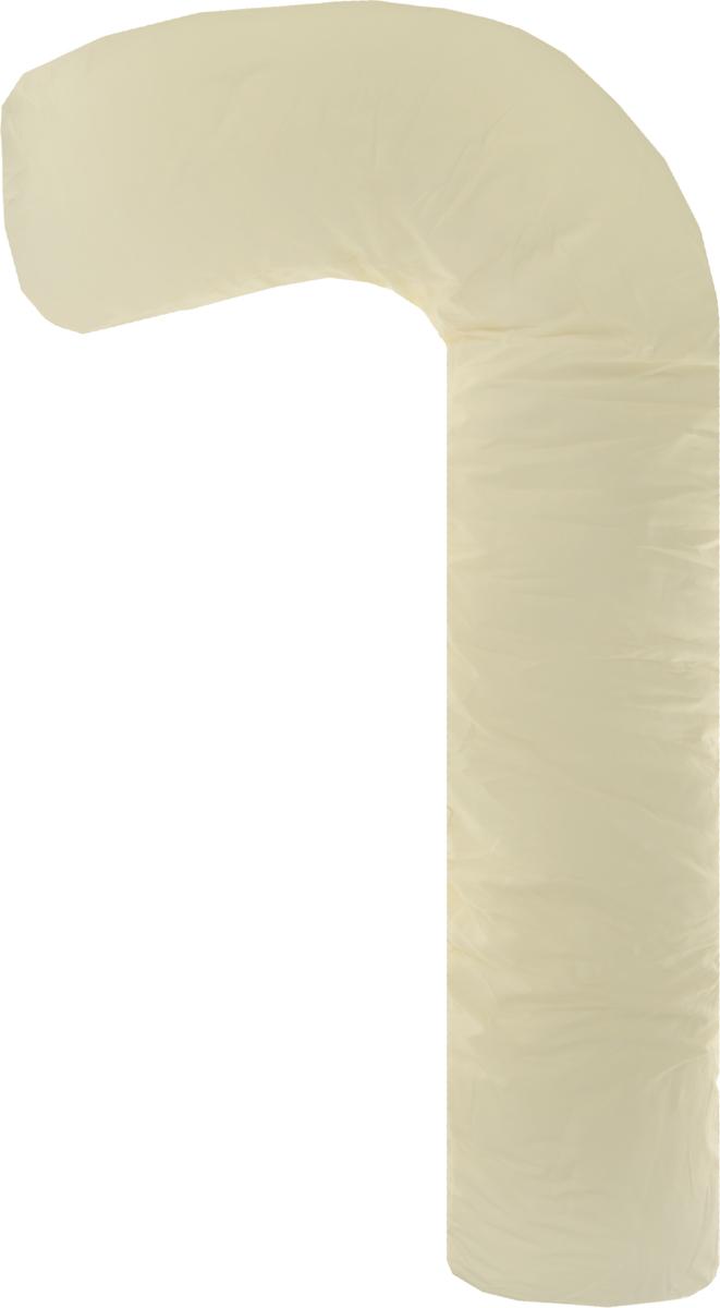 Body Pillow Подушка для беременных и кормящих L-образная цвет бежевый