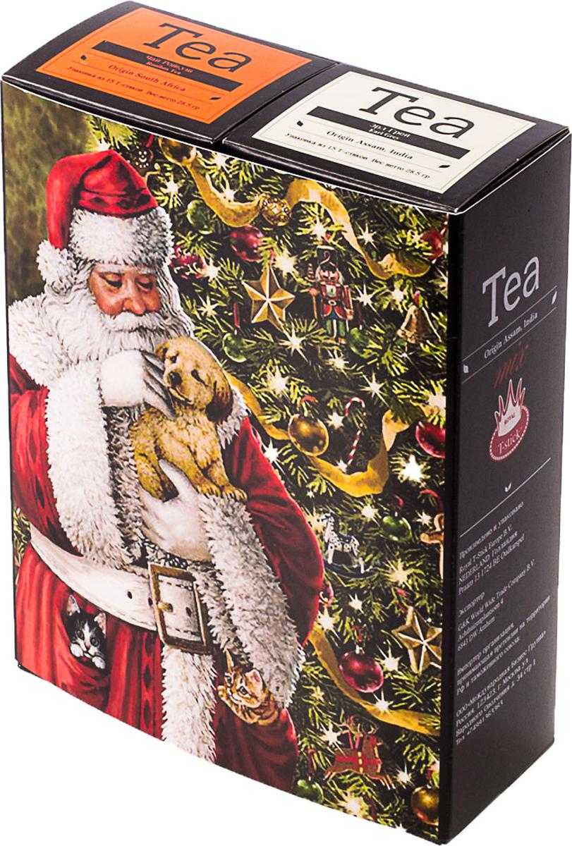Подарочный набор Royal T-Stick: Earl Grey черный чай и Rooibos Tea красный чай, в стиках, 30 шт. 2018104 greenfield royal earl grey черный листовой чай 250 г