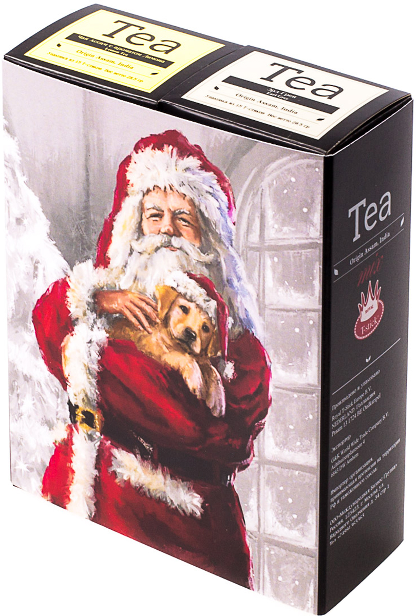 Подарочный набор Royal T-Stick: Earl Grey черный чай и Lemon Tea черный чай, в стиках, 30 шт. 20181019 greenfield royal earl grey черный листовой чай 250 г