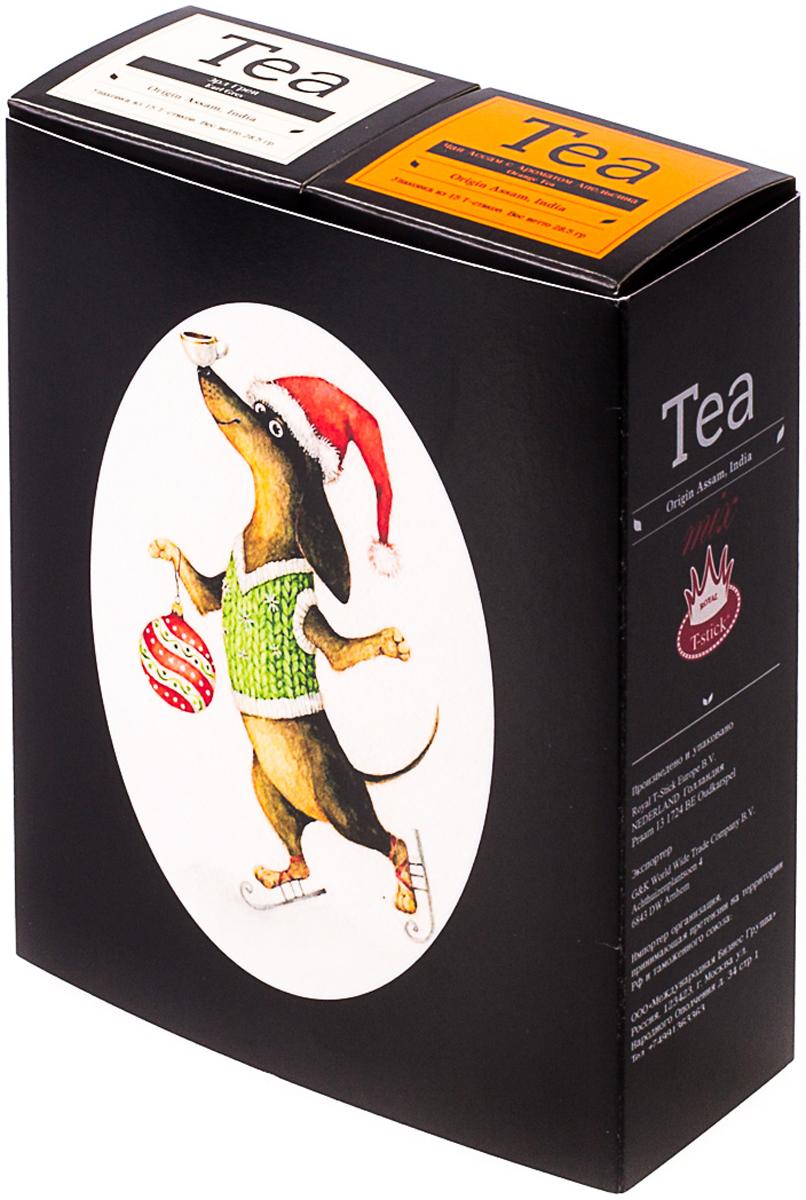 Подарочный набор Royal T-Stick: Earl Grey черный чай и Orange Tea черный чай, в стиках, 30 шт. 2018101620181016Подарочный набор из двух пачек чая премиум класса,упакован в коробку для транспортировки. Чай Ассам с бергамотом порадует вас насыщенным ,янтарно -красным цветом, терпким ароматом бергамота и пряным, солодово-медовым вкусом . Чай обладает тонизирующим свойством. Натуральный черный чай с ароматом апельсина порадует вас золотисто-медовым цветом, тонким ароматом персика и изысканным пряным вкусом , который создается путем смешивания реальных кусочков апельсина и индийского чая из штата Ассам. Чай упакован в пищевую фольгу, которую можно использовать вместо ложечки для размешивания сахара. Опустите стик в кипяток, оставьте на 3 минуты, размешайте кусочек сахара. Достаньте стик из стакана, потрясите им о край стакана, так, чтобы стекли последние капли, и положите рядом. Вся влага останется внутри стика. Прекрасный подарок родным и близким,и отличный повод удивить коллег по работе и друзей, внедряя новую, элегантную культуру чаепития!