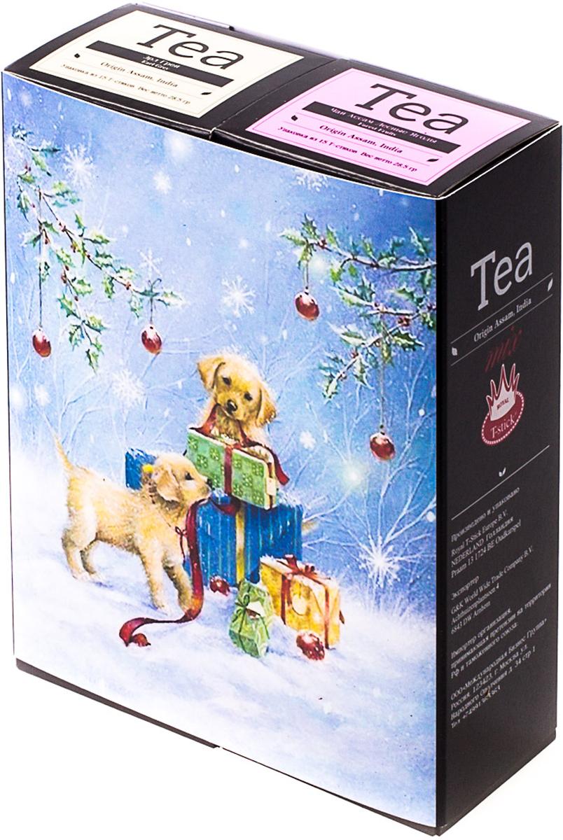 Подарочный набор Royal T-Stick: Earl Grey черный чай и Forest Fruits Tea черный чай, в стиках, 30 шт. 20181015 greenfield royal earl grey черный листовой чай 250 г
