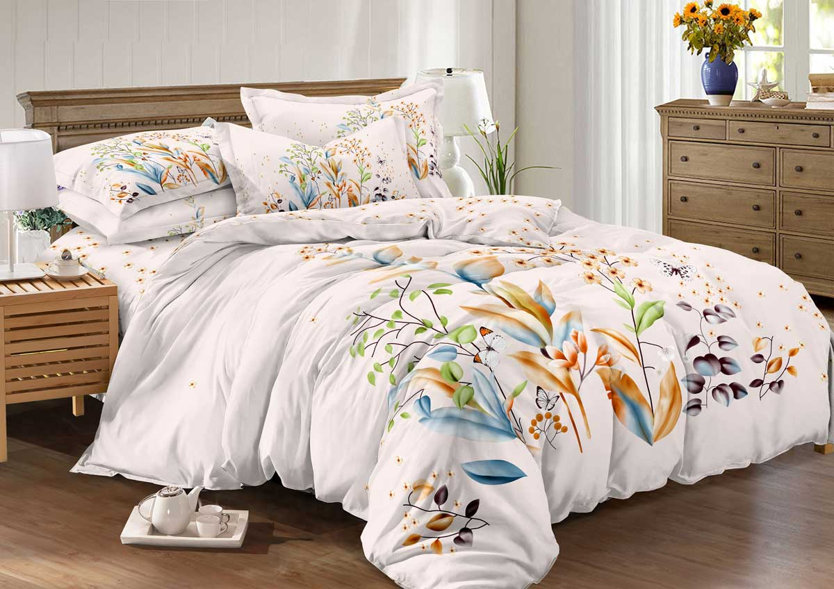 Комплект белья Guten Morgen Mango, 2-спальный, сатин. М-770-175-180-70М-770-175-180-70Не отказывайте себе в удовольствии оценить широкий спектр дизайнов, включающий в себя большое количество стилей и разнообразных мотивов. Мы нашли свежее решение в вопросе выбора между комфортом и изысканностью. Наша коллекция рождена с особым теплом и заботой, чтобы впоследствии стать стильной деталью вашего интерьера.Советы по выбору постельного белья от блогера Ирины Соковых. Статья OZON Гид