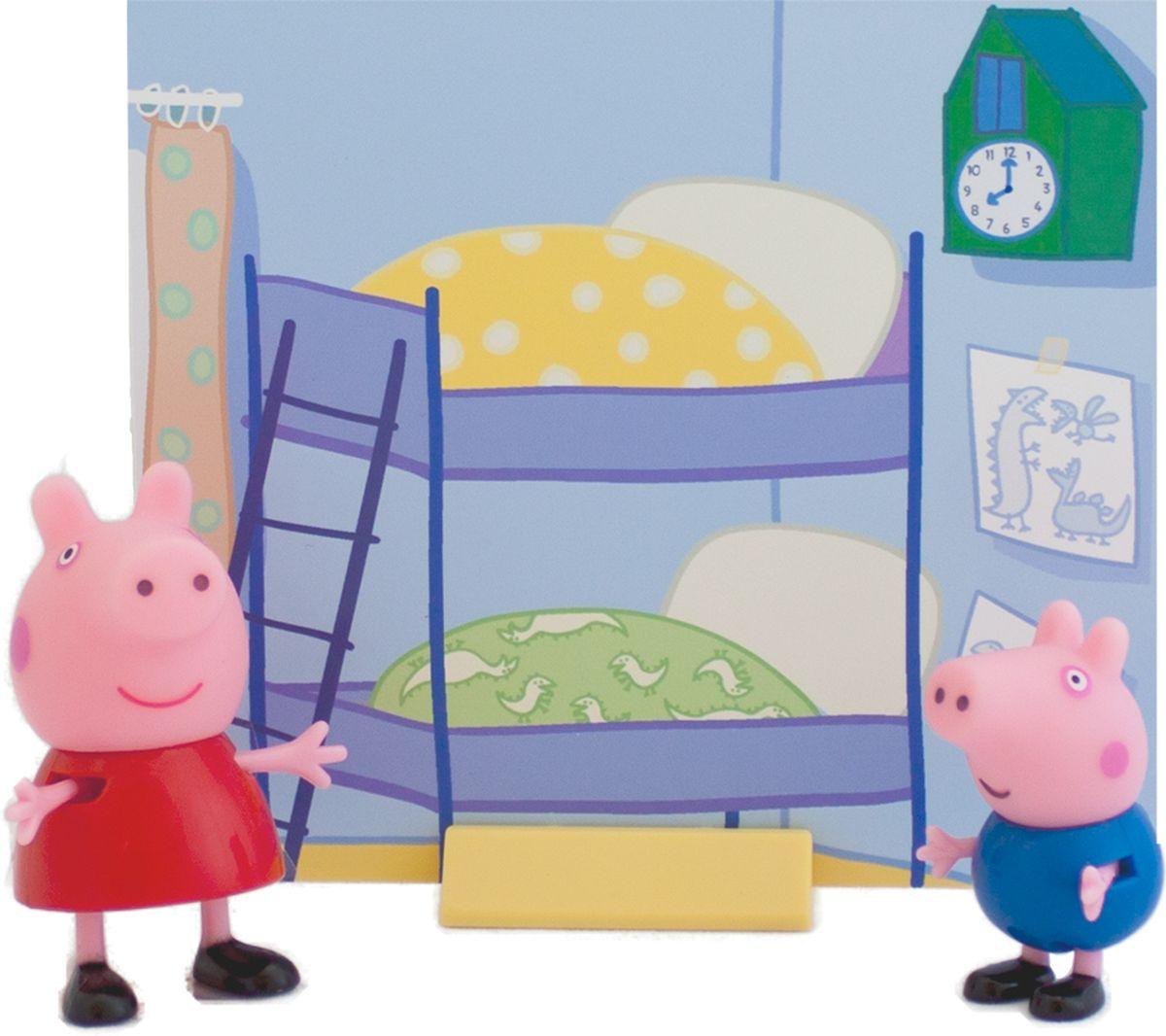 Peppa Pig Игровой набор Пеппа и Джордж мягкая игрушка peppa pig джордж с машинкой свинка розовый текстиль 18 см 29620