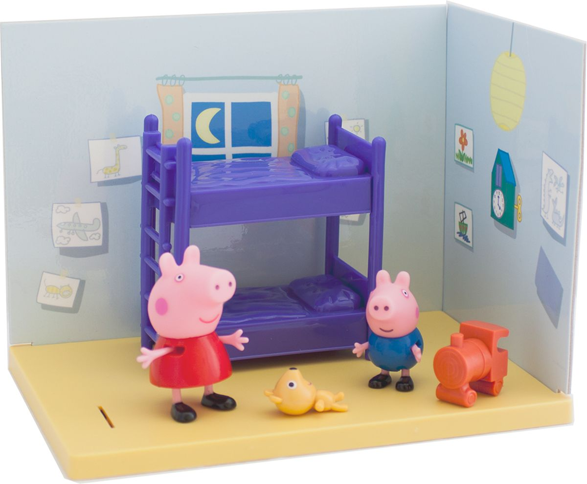 Peppa Pig Игровой набор Спальня Пеппы и Джорджа мягкие игрушки peppa pig мягкая игрушка пеппа модница 20 см