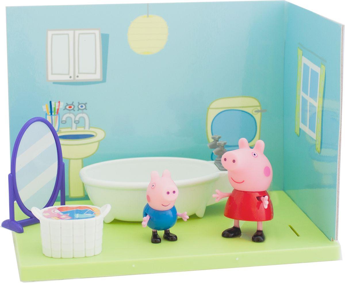 Peppa Pig Игровой набор Ванная комната Пеппы и Джорджа мягкие игрушки peppa pig мягкая игрушка пеппа модница 20 см