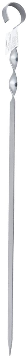 Шампур плоский Пикничок Настоящий, длина 45 см401-835Шампур плоский Пикничок Настоящий изготовлен из оптимального для приготовления пищи материала — нержавеющей стали толщиной 1,5 мм. Идеальны для поклонников традиционного шашлыка из мяса. Шампур имеет удобную витую ручку, которая припятсвует проворачиванию в пазах мангала, а также безопасный заостренный кончик, позволяющий легко и просто нанизывать продукты, сохраняя их целостность.
