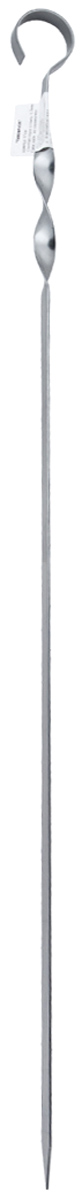 Шампур плоский Пикничок Настоящий, длина 57 см401-836Шампур плоский Пикничок Настоящий изготовлен из оптимального для приготовления пищи материала — нержавеющей стали толщиной 1,5 мм. Идеальны для поклонников традиционного шашлыка из мяса. Шампур имеет удобную витую ручку, которая припятсвует проворачиванию в пазах мангала, а также безопасный заостренный кончик, позволяющий легко и просто нанизывать продукты, сохраняя их целостность.