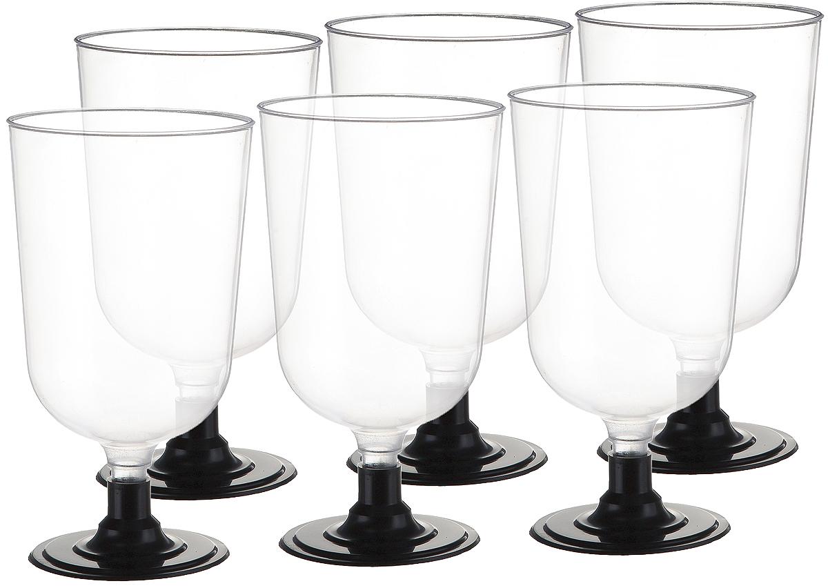 Набор рюмок Buffet, цвет: прозрачный, черный, 100 мл, 6 шт182047Набор Buffet состоит из шести рюмок, выполненных из полистирола. Рюмки сочетают в себе отличное качество и дизайн и предназначены для холодных и горячих (до +70°С) напитков.