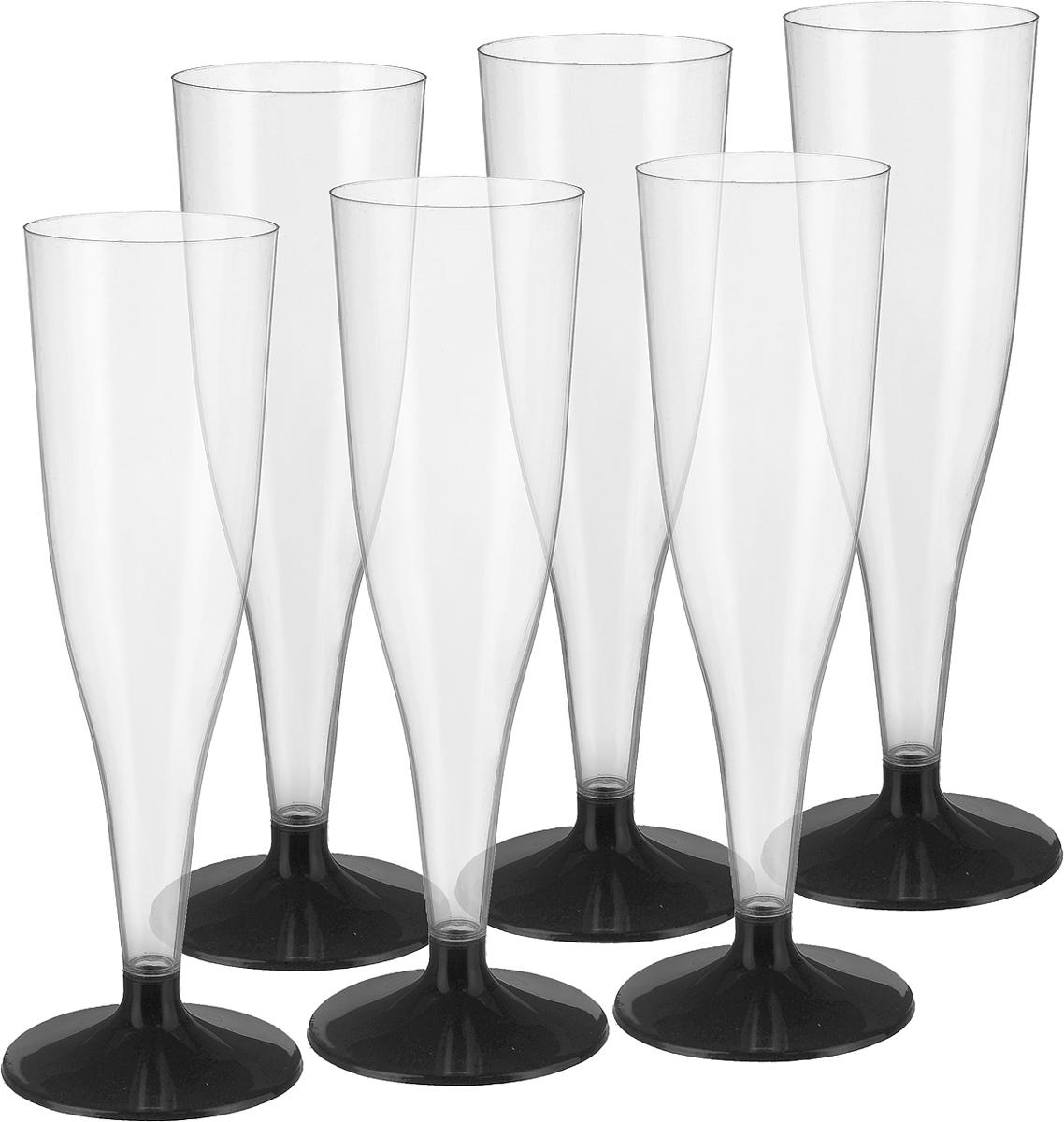Фужер для коктейлей Buffet, цвет: прозрачный, черный, 100 мл, 6 шт182273/Фужер для коктейлей Buffet выполнен из полистирола. Предназаначен для холодных и горячих (до +70С) напитков. В комплекте 6 шт.