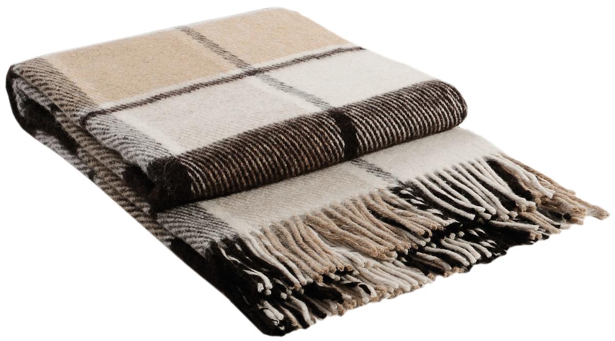 Плед Vladi Эльф, цвет: белый, бежевый, коричневый, 140 х 200 см. 0017400174Коллекция пледов Эльф самая обширная в нашем ассортименте – она представлена в более чем в 50-ти разнообразных расцветках. Классическая шотландская клетка на любой вкус, качественная натуральная шерсть и практичность пледов Эльф доставят Вам не только эстетическое удовольствие, но и принесут пользу своим теплом в холодное время года.