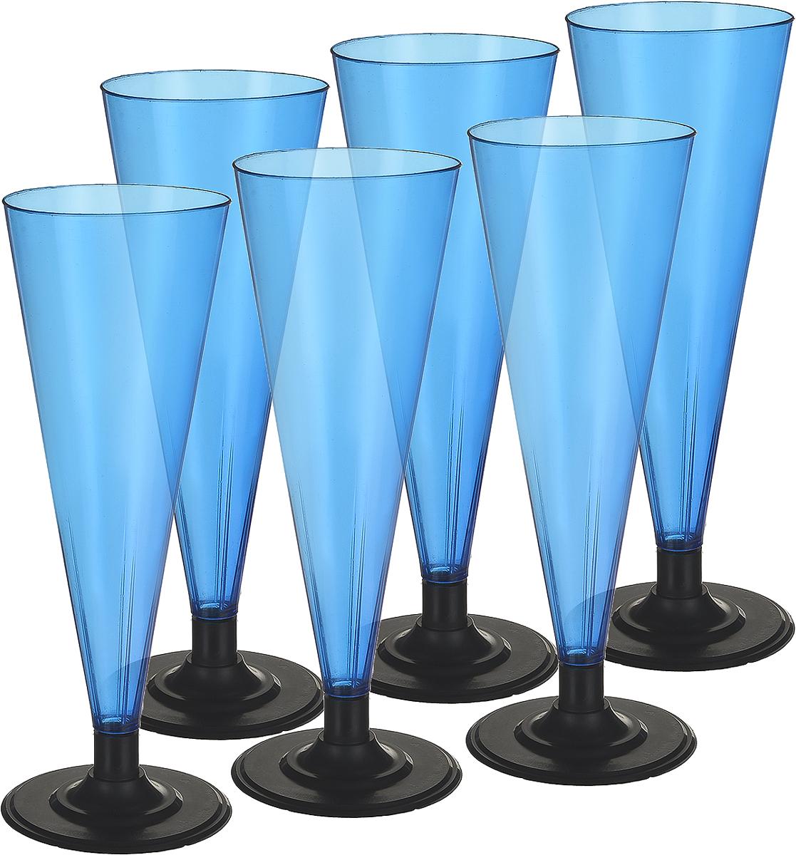 Фужер Мистерия, цвет: синий, черный, 180 мл, 6 шт182151Фужер Buffet выполнен из полистирола. Предназаначен для холодных и горячих (до +70С) напитков. В комплекте 6 шт.