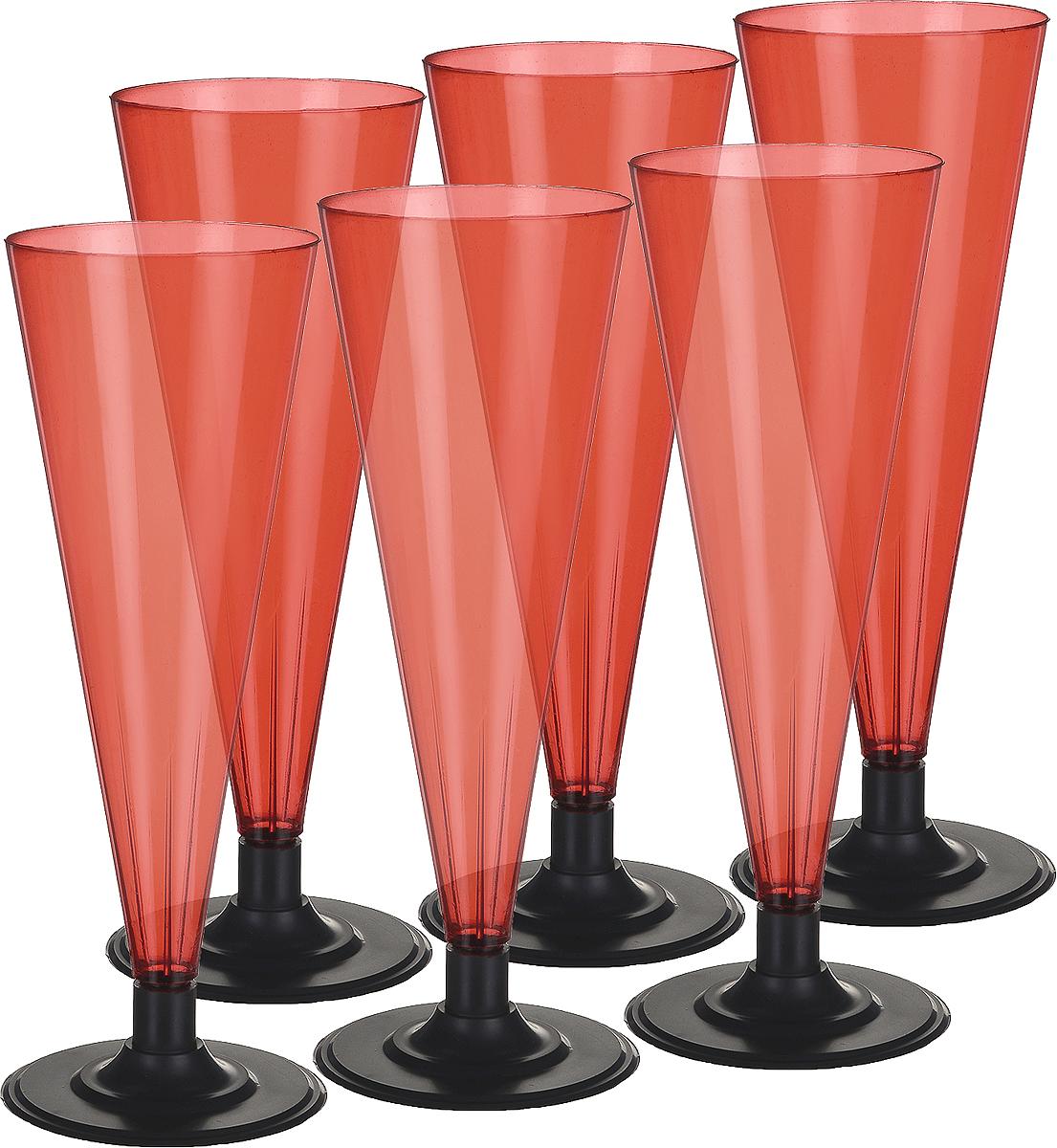 Фужер Мистерия, цвет: красный, черный, 180 мл, 6 шт182154Фужер Buffet выполнен из полистирола. Предназаначен для холодных и горячих (до +70С) напитков. В комплекте 6 шт.