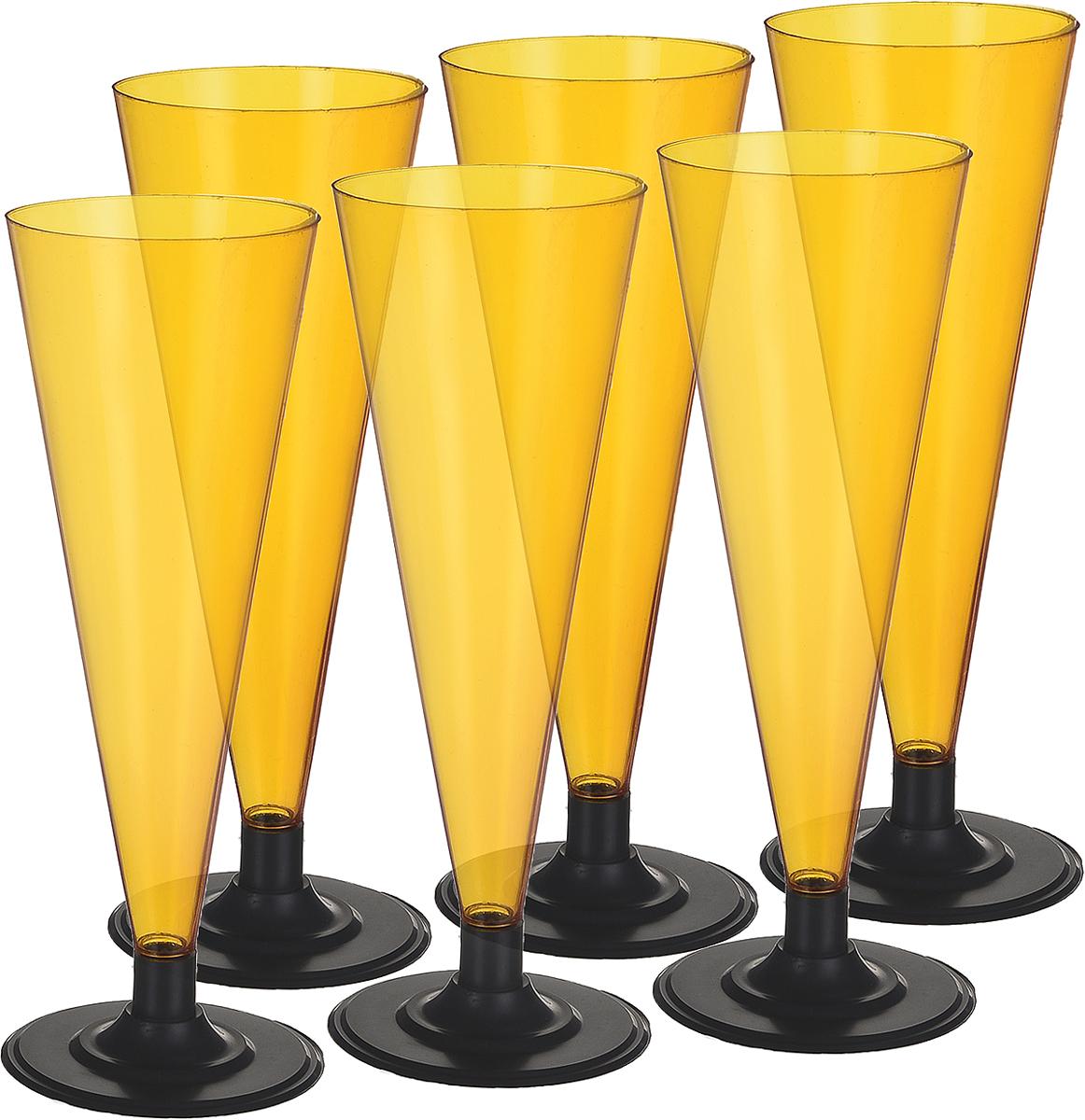 Фужер Мистерия, цвет: оранжевый, черный, 180 мл, 6 шт182155Фужер Мистерия выполнен из полистирола. Рекомендуется для использования на вечеринках, корпоративных мероприятиях и свадебных прогулках. Имеют малый вес, не разбиваются и удобны при транспортировке.