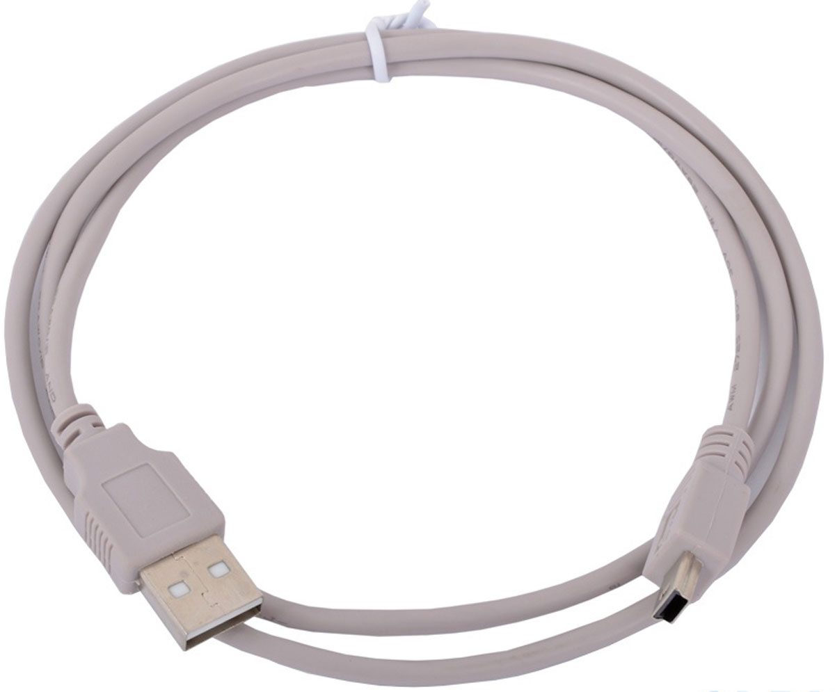 Cablexpert CC-USB2-AM5P-3, Gray кабель USB 2.0 AM/miniBM 5P (0,9 м) кабель