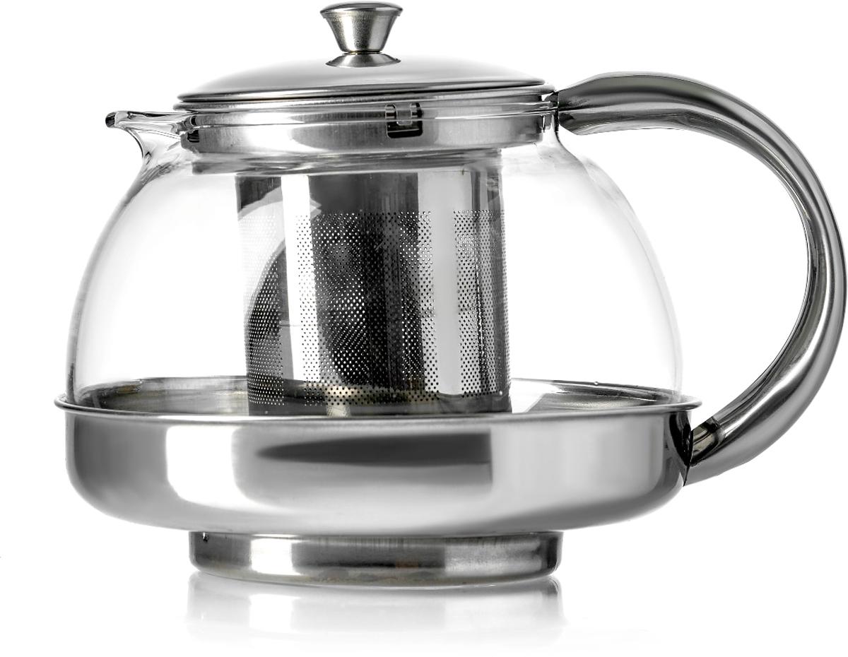 Чайник заварочный Walmer Alba, цвет: серый металлик, 800 мл